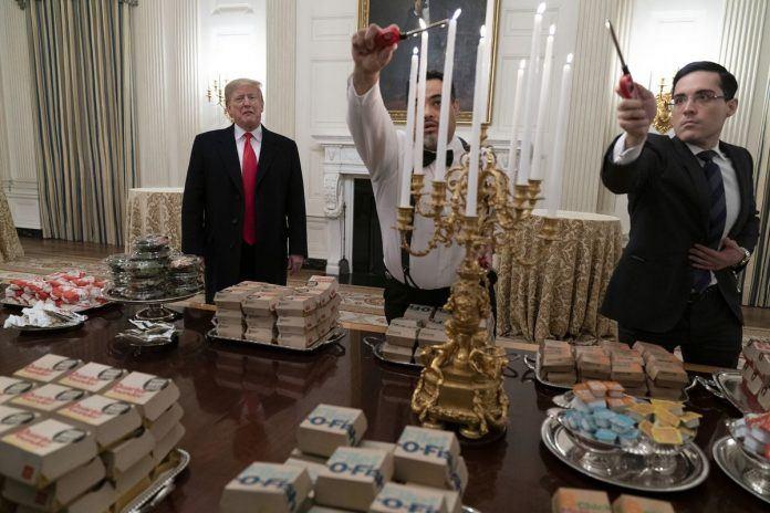 fake news ice caps muslim holiday donald trump clemson fast food lighting ceremony