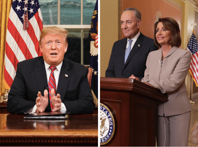donald trump with chuck schumer nancy pelosi
