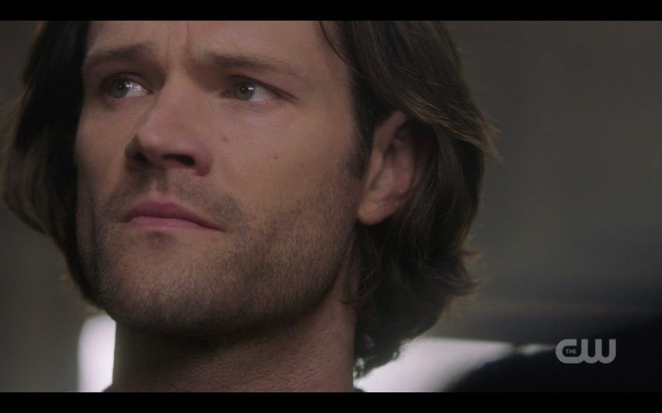 sam winchester about to cry for dean supernatural damaged goods