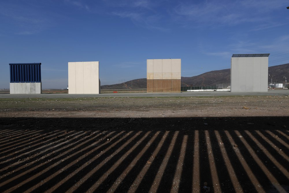 southern border wall samples for donald trump
