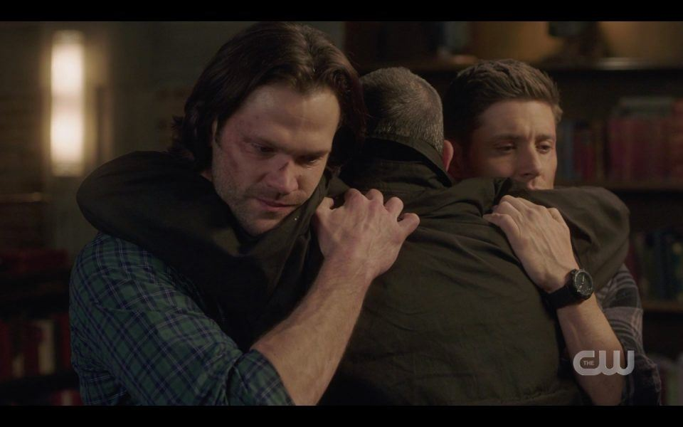 dean sam winchester hugging john tight bulge spn1413