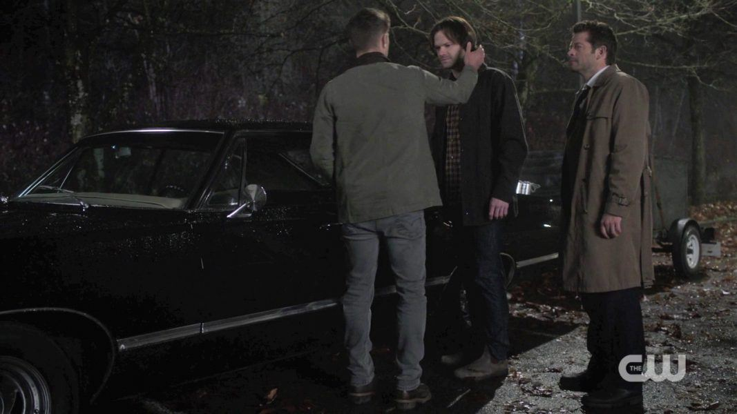 dean stroking sam winchesters face dont hit me again spn 1412