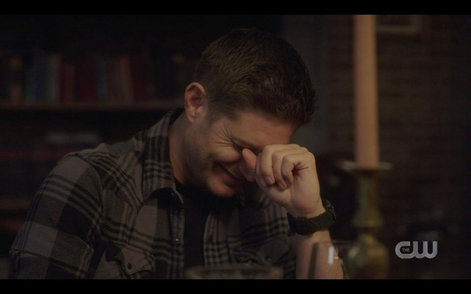 dean winchester drunk full and laughing with john spn 1413
