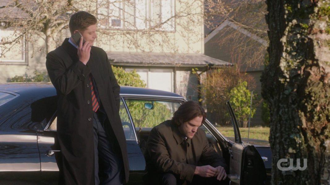 dean winchester gives cas awkward goodbye spn 1412 prophets