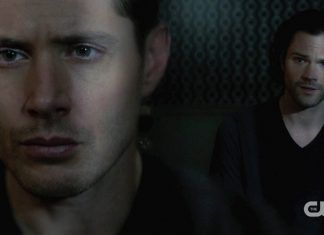 dean winchester in dark room with sam behind him prophets loss 1412