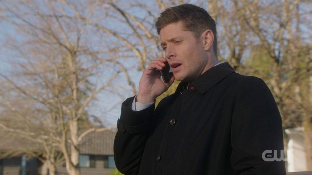 dean winchester on phone with castiel spn 1412