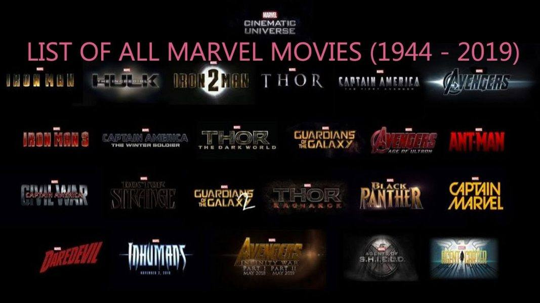 list of all marvel movies ever made from 1944 to 2019