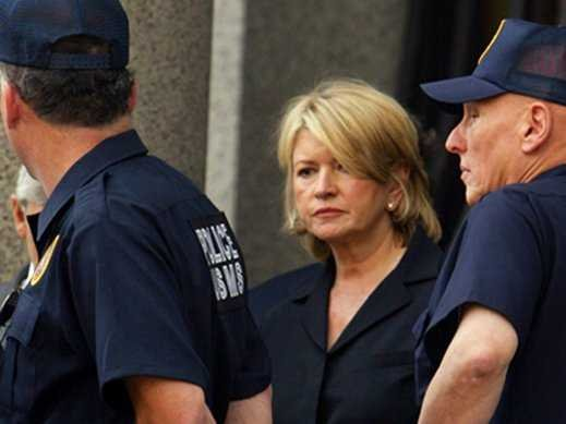 Martha Stewart arrested after lying to FBI.