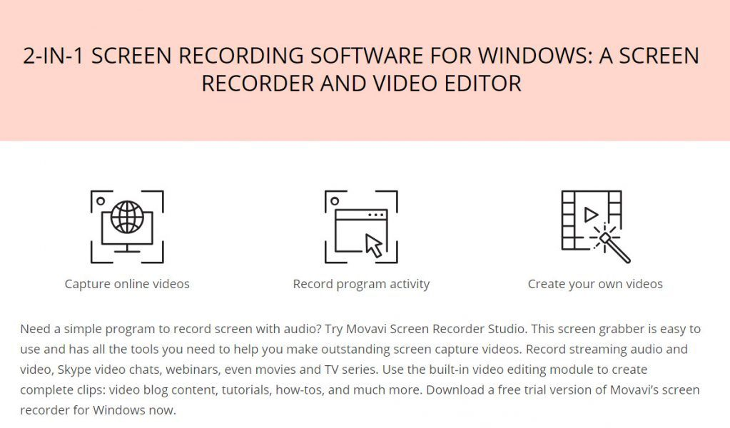 movavi screen recorder 2 in 1 screen images easy to use captures