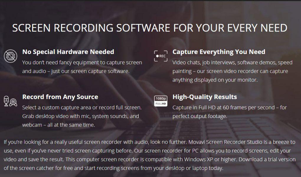 movavi screen recorder faq results
