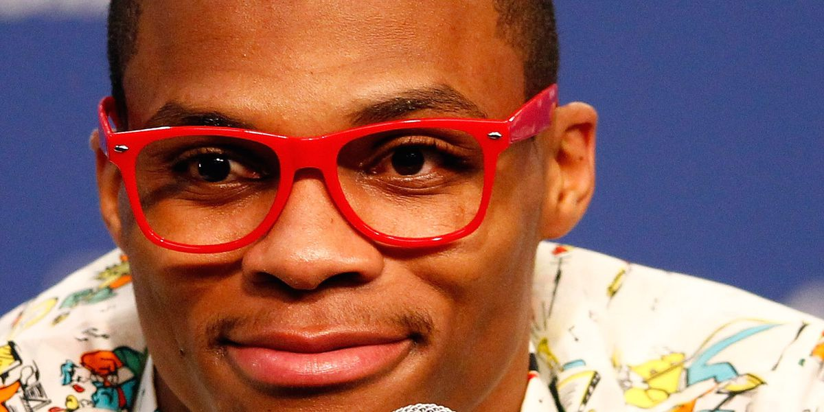 russell westbrook red glasses nba