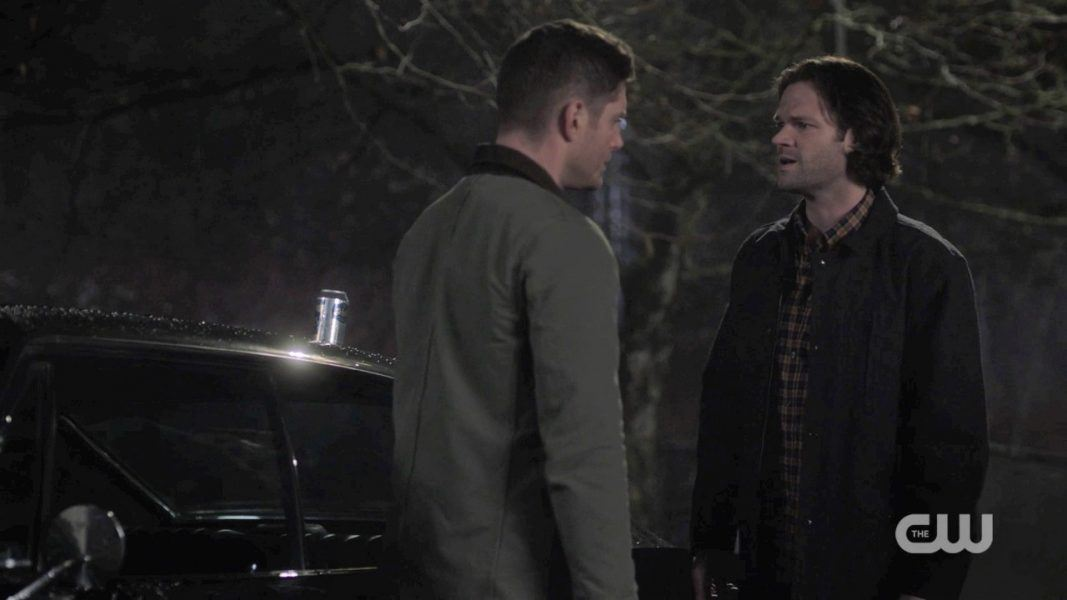 sam dean winchester fighting over his leaving for box 1412