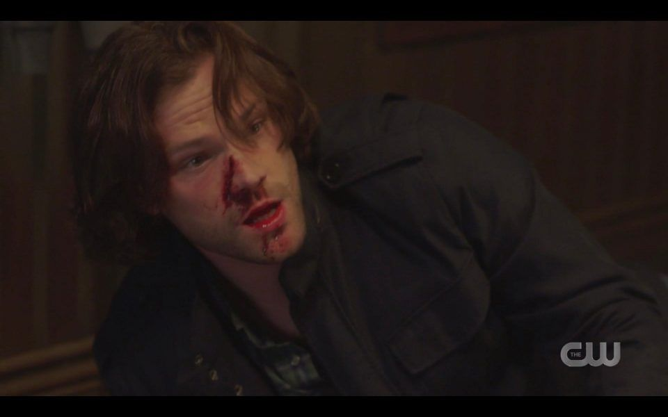 sam kills zachariah bloodied up spn 1413