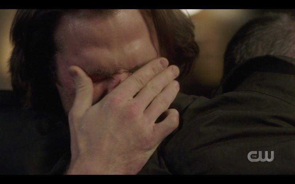 sam winchester hugging daddy john with dean lebanon 1413