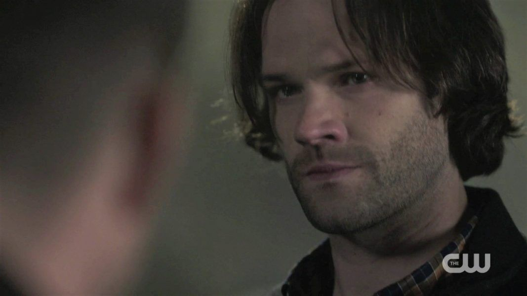 sam winchester reacts to dean going in box spn 1412
