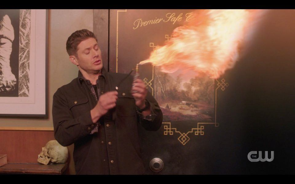 spn 1413 dean winchester in pawn shop blowtorching