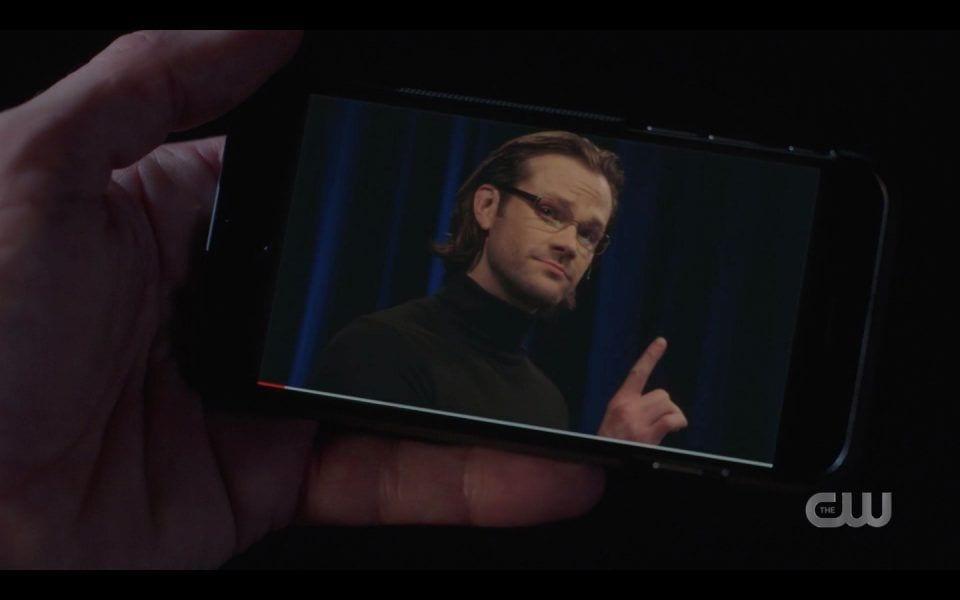spn 1413 smart sam giving a ted talk in black turtleneck