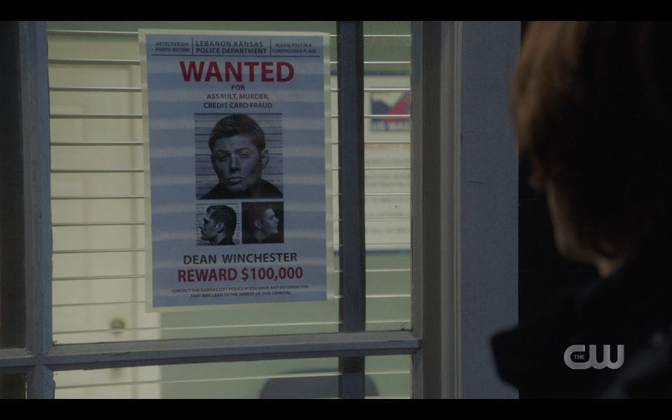 spn 1413 wanted poster with dean winchester fbi