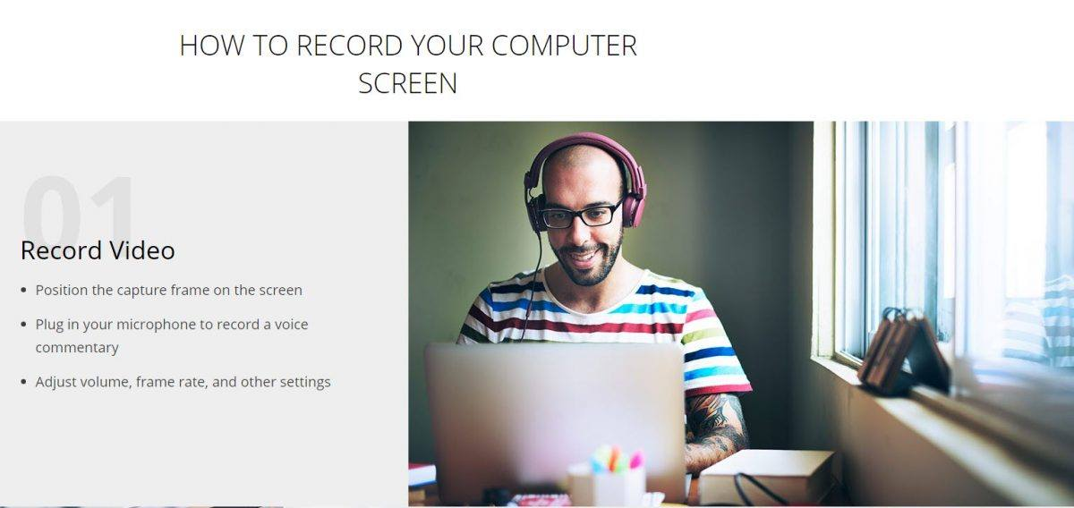 step 1 record video screen