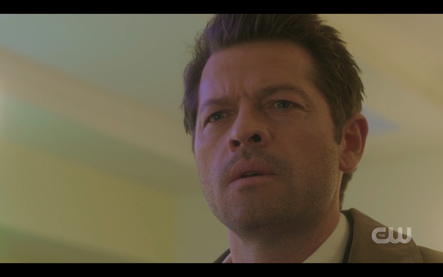 Castiel realizing Sam Winchester is possessed by Sunnys father spn 1415