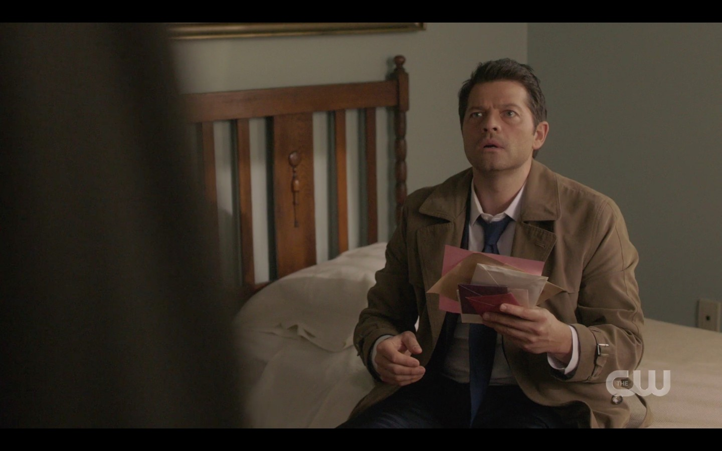 Castiel tells Sam Winchester landlady liked shape and heft of his package SPN 1415