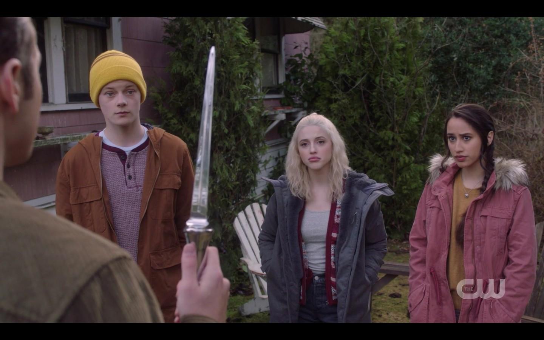 Jack shows friends angel blade Supernatural dont go into woods