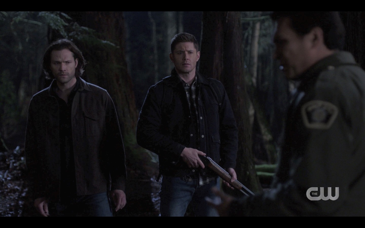 Sheriff tells Sam Dean to make videos of whats out there SPN Dont Go Into Woods