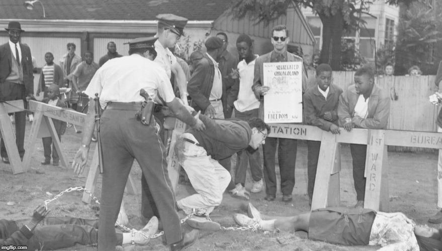 bernie sanders being arrest in 1963 for resisting arrest