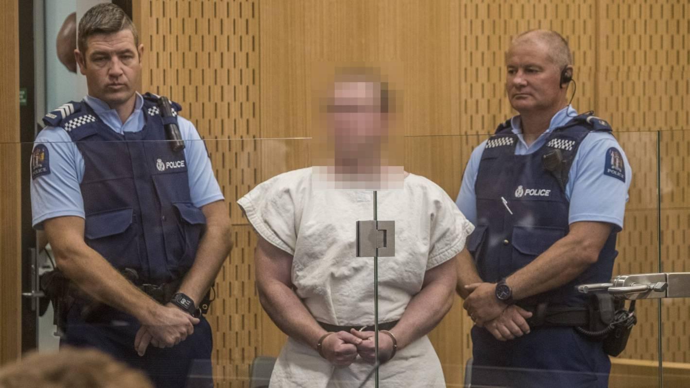 New Zealand mosque shooter Brendan Tarrant arrested.