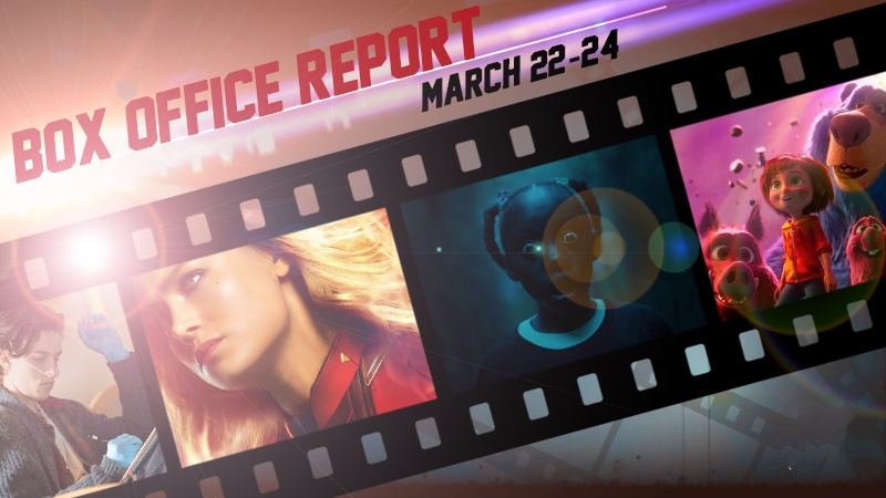 Captain Marvel, Us, Wonder Park box office number March 2019