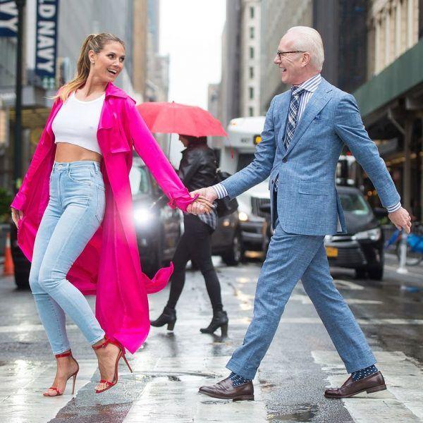 Heidi Klum takes Tim Gunn to Amazon for a new fashion project.
