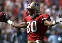 jerry rice with football fighting chronic kidney disease for millennials
