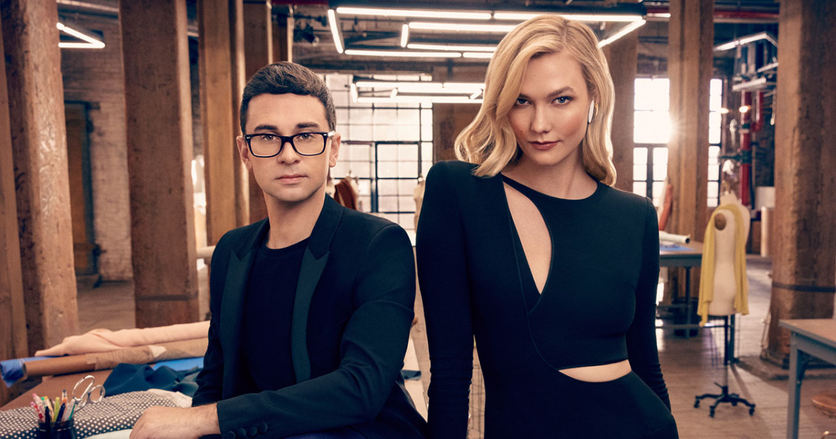 Karlie Kloss with Christian Siriano on Project Runway Bravo return.