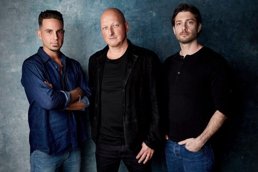 Leaving Neverland filmmakers Wade Robson, Dan Reed and James Safechuck.