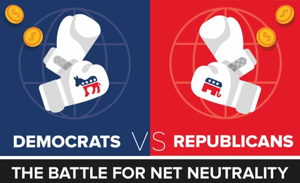 Democrats and Republicans battle over net neutrality again in 2019.