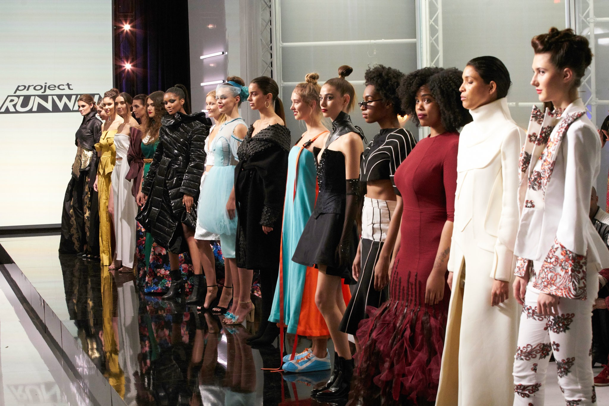 Project Runway Season 17 fashion show.