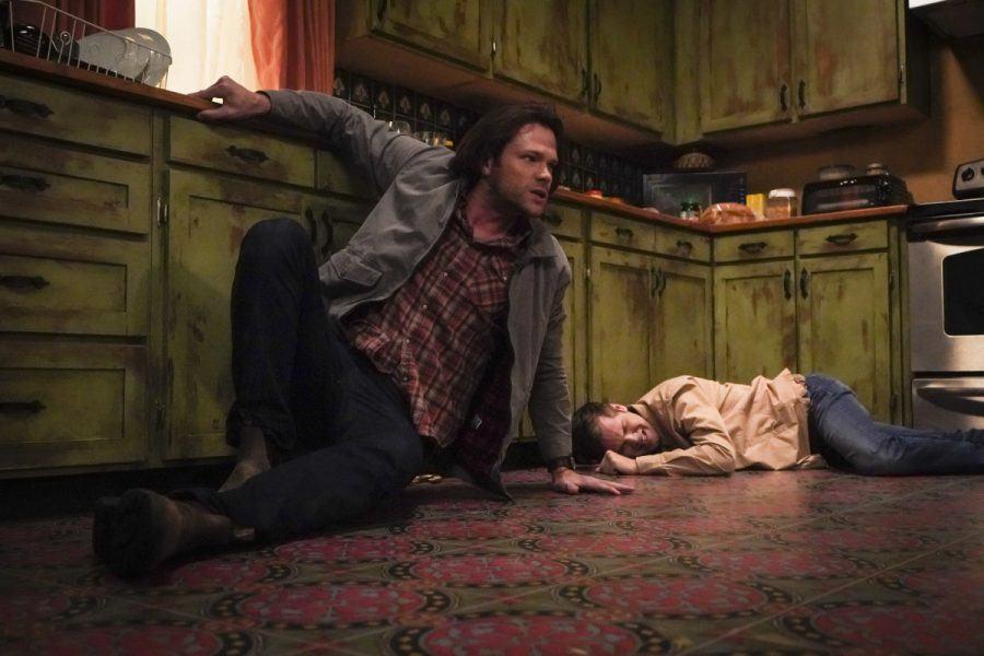 Sam Winchester Jack beaten by Gorgon Supernatural 14.14