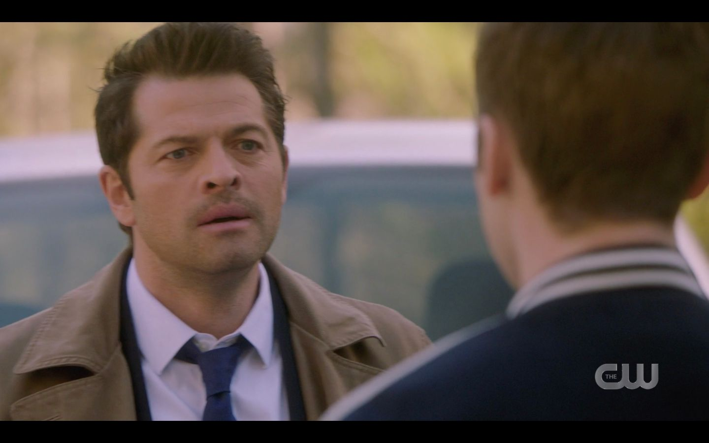 Castiel looking at Jack with love bulge SPN 14.20
