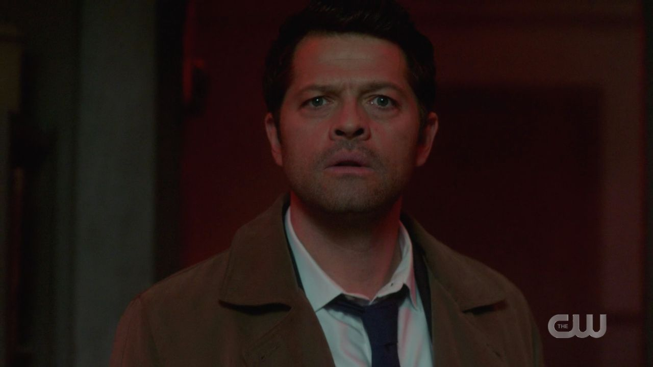 Castiel reacts to Jack in demon mode after malak box break out SPN 14.19
