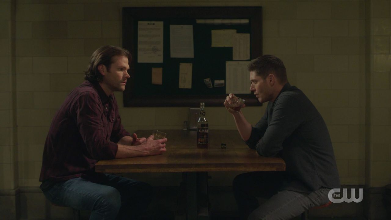 Dean Sam Winchester discuss putting jack in the malak box 14.19 SPN