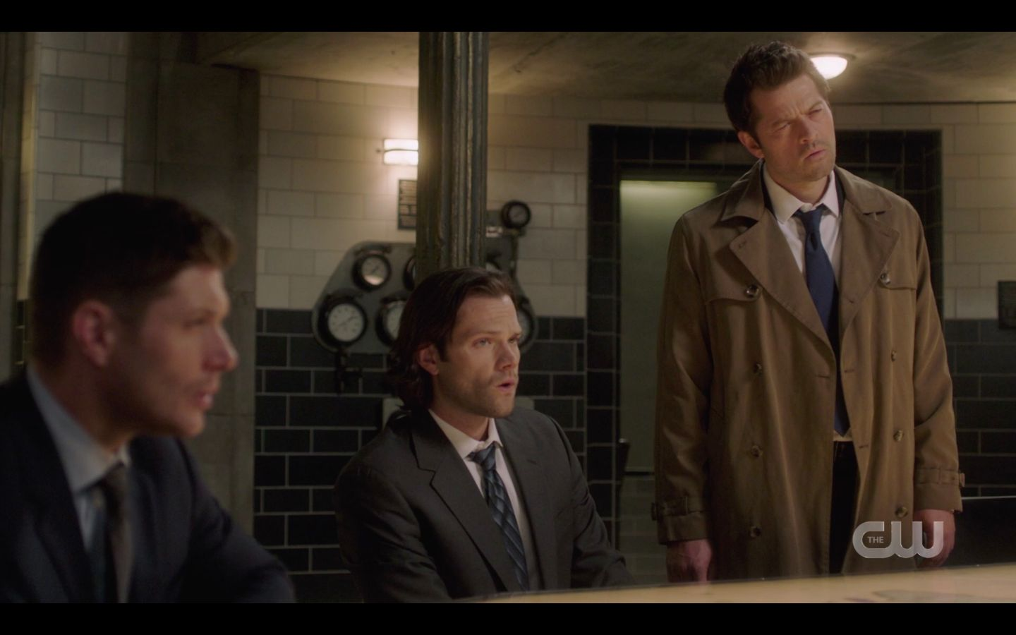 Dean Sam Winchester with Castiel and Chuck over Jack SPN 14.20