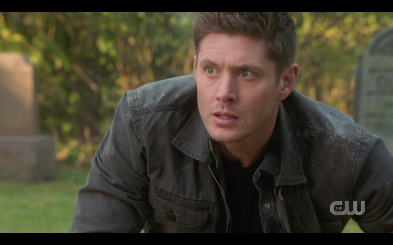Dean Winchester grabs gun from Chuck with Sam SPN 14.20