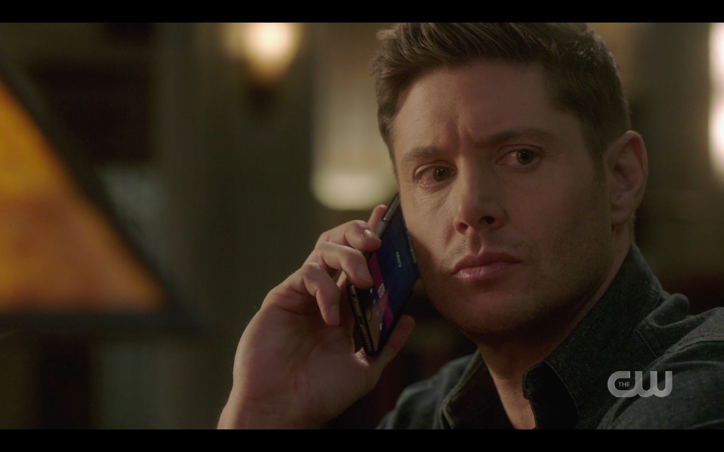Dean Winchester on phone trying to find Mary SPN Absence