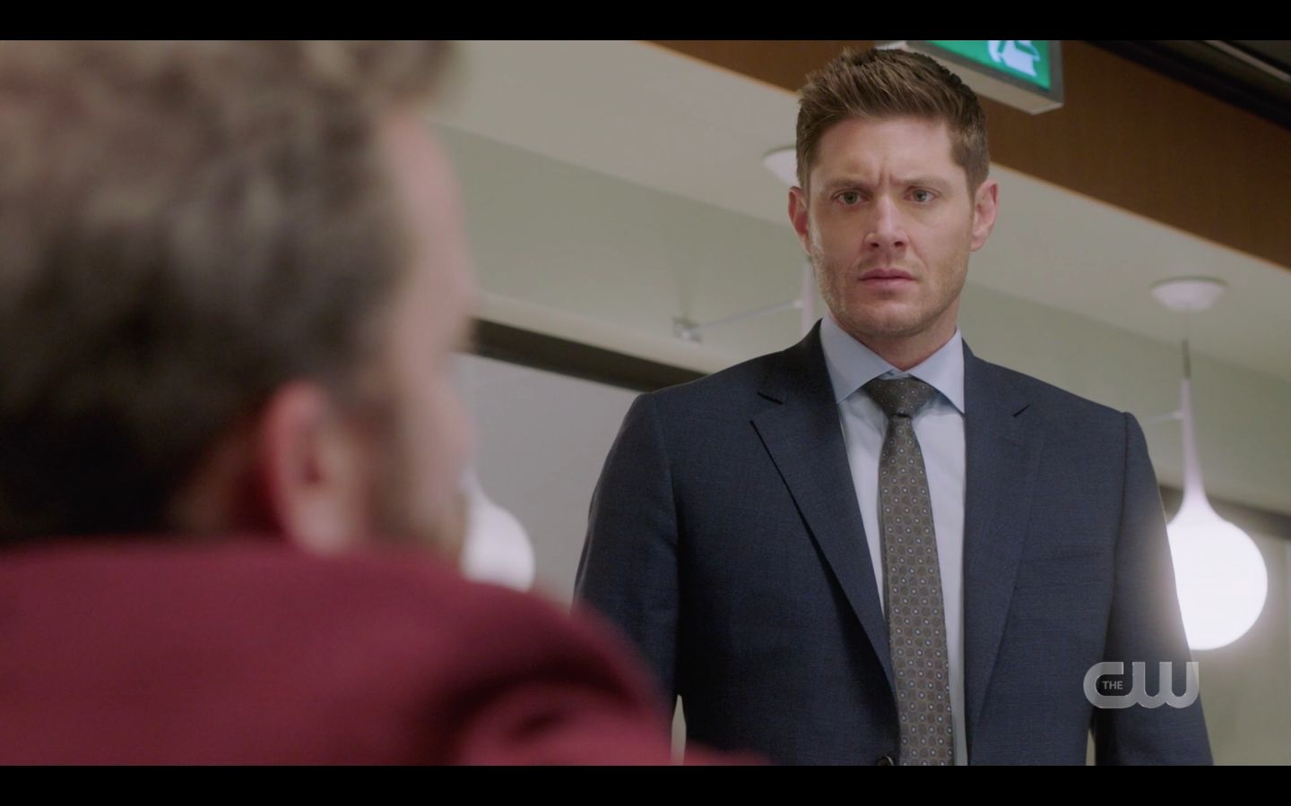 Dean Winchester reacts to CHuck guitar SPN 14.20 finale