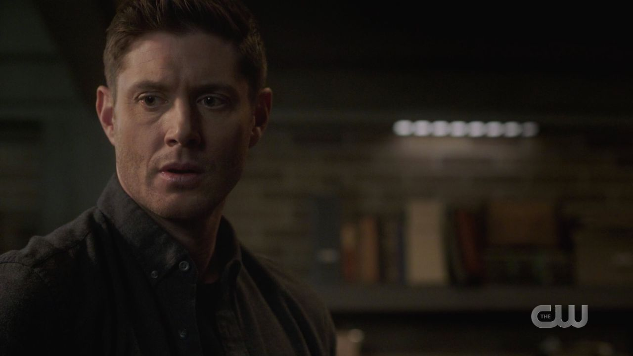 Dean Winchester sad after locking Jack i malak box 14.19