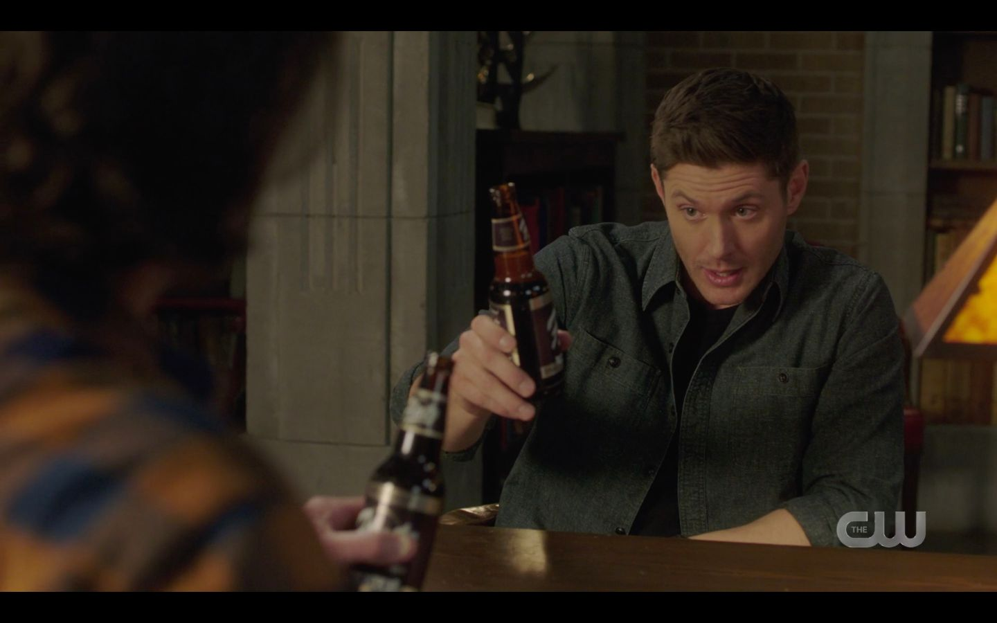 Dean Winchester toasting beer with Sam after Supernatural Absence