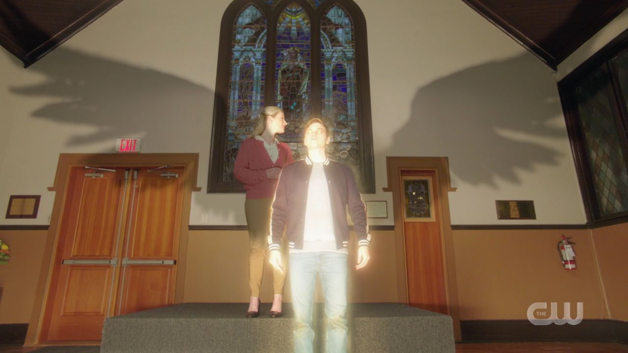 Jack appears at church service as heavenly visage SPN 14.19
