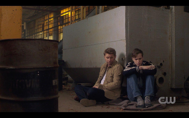 Lucifer sitting with Jack Hallucifer You cant trust them 14.18