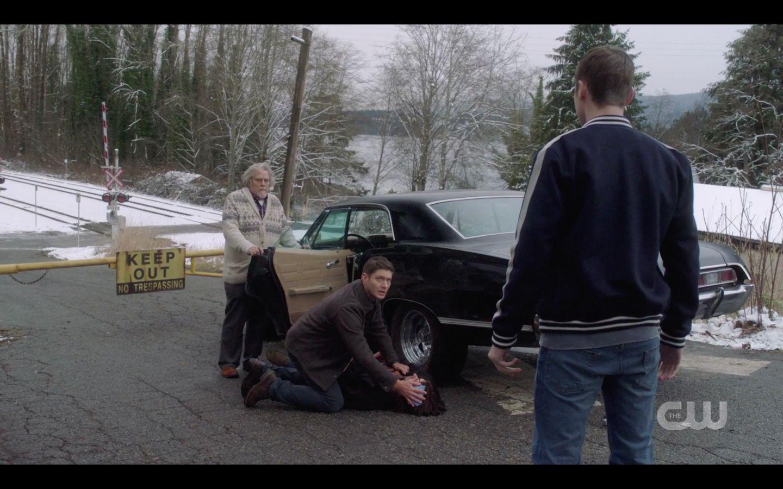 SPN Jack finds Dean holding cloth on Sam Winchester head GameNight