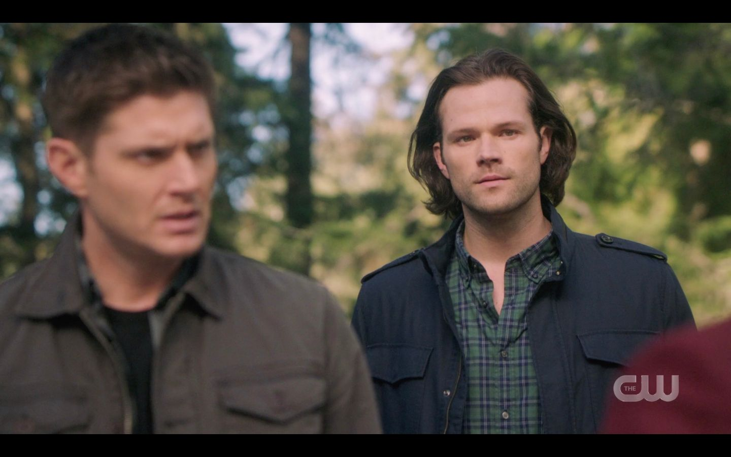 Sam Dean Wincheseter with Chuck Hes beenplaying us the whole time SPN 14.20